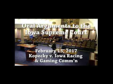 16–1146 Kopecky v. Iowa Racing & Gaming Comm'n, February 15, 2017