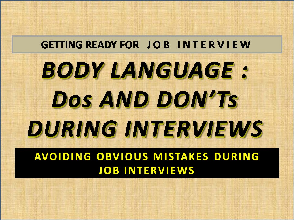 JOB INTERVIEW BODY LANGUAGE DOs AND DON\u0027Ts - YouTube