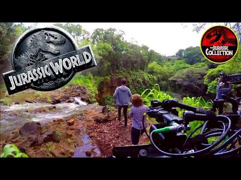 Jurassic World | KIDS WATERFALL SCENE | Behind the Scenes | Chris Pratt dinosaur movie 2015