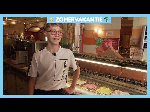 Italiaanse Patric werkt in Nederlandse ijssalon