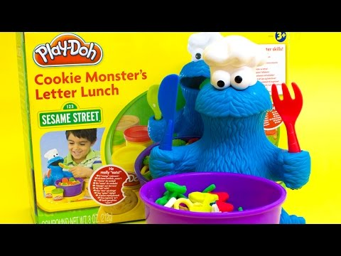 Play Doh Cookie Monster Letter Lunch Mold Cookies Sesame Street Playset playdo toy