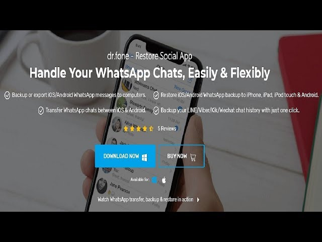 Dr. Fone Restore Social App! - Restaure e Transfira conversas do WhatsApp, WeChat e mais!!