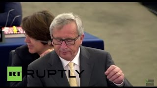 """France: Juncker heckled in European parliament over Greek referendum """"circus"""" comments"""