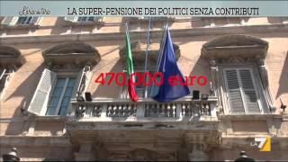 La super pensione dei politici senza contributi