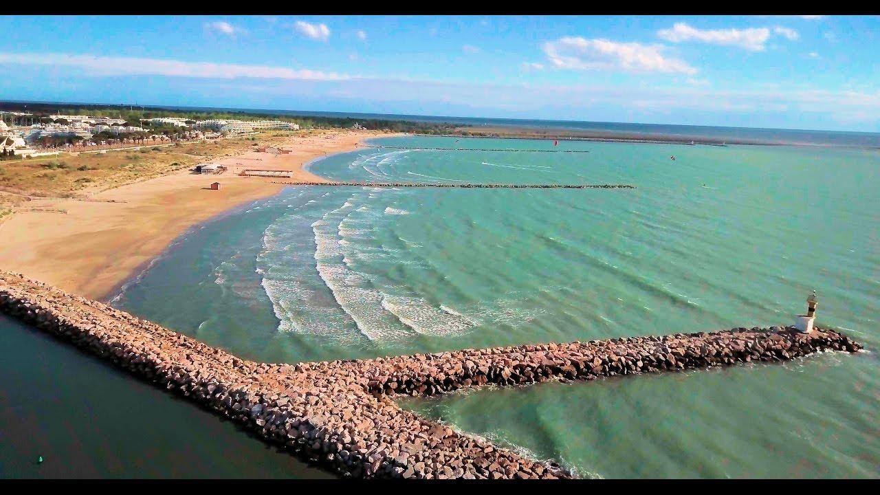 Spot kitesurf drone 4k port camargue plage sud le grau du roi gard france youtube - Le grau du roi port camargue ...