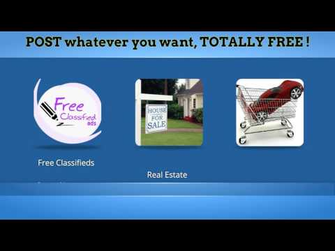Free Classified ads, Sell your items, Sell your home free, Advertise your business Free!