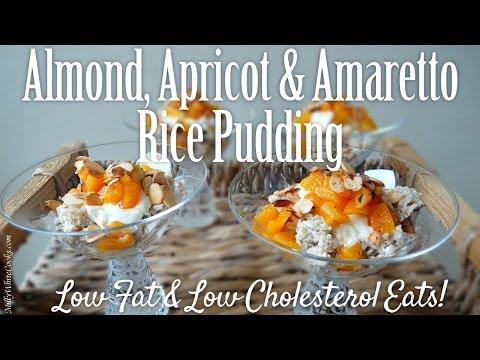 Almond, Apricot & Amaretto Rice Pudding   Easy Healthy Desserts Recipe   Low Fat & Cholesterol Diet