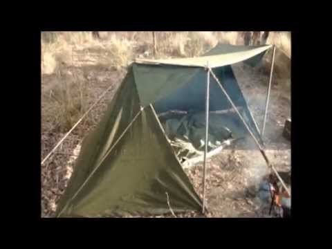 & US ARMY PUP TENT MOD INTO A WHELEN - YouTube