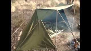 US ARMY PUP TENT MOD INTO A WHELEN