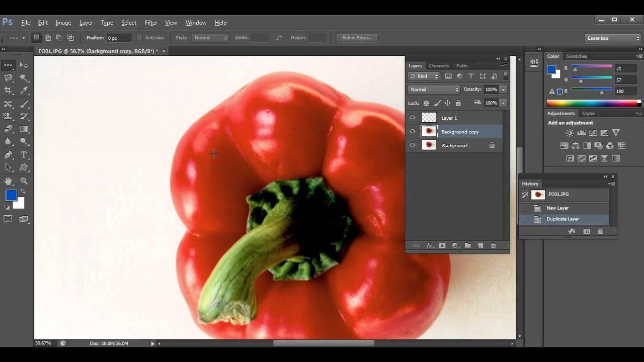 나누리의 포토샵 초급강좌 선택툴-feather (photoshopCS6)