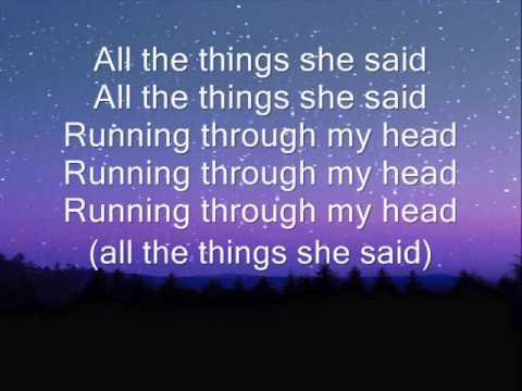 t.A.T.u all the things she said lyrics