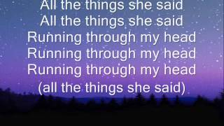 t.A.T.u all the things she said lyrics