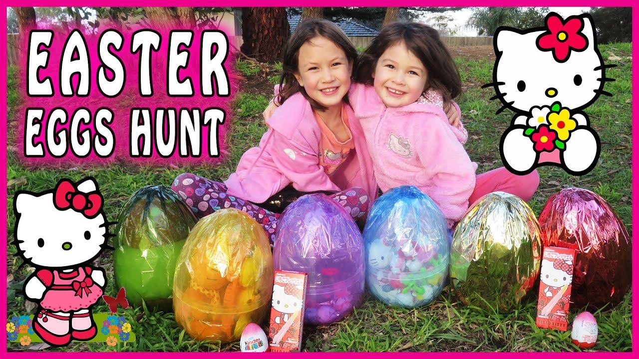 Hello Kitty Surprise Egg Hunt Hello Kitty Toys Hello