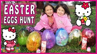 HELLO KITTY SURPRISE EGG HUNT Hello Kitty Toys, Hello Kitty Easter Eggs, Hello Kitty Egg Surprise