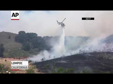 Raw: Wildfires Burning In Oregon, California