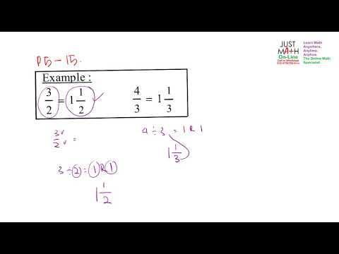 p5-15-eg Rewriting Improper fraction to Proper Fraction | Math Online Penang Malaysia