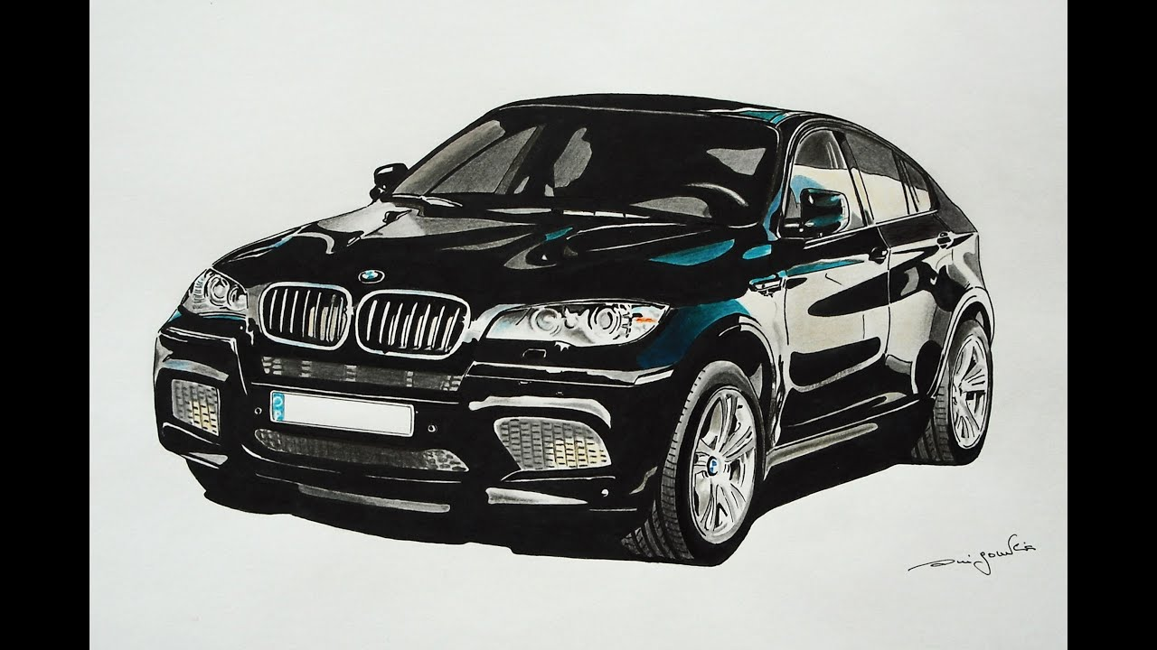 Bmw X6 Realistic Car Drawing 3d Art Speed Drawing By Rui