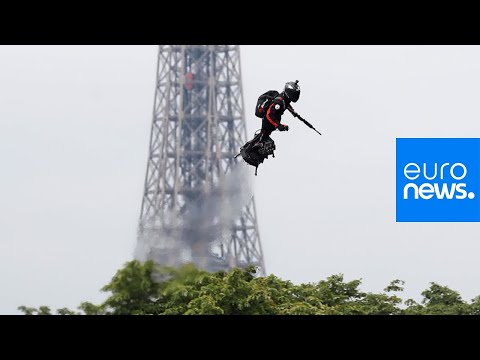 Jet-powered Flyboard Steals Show At Bastille Day Military Parade In France