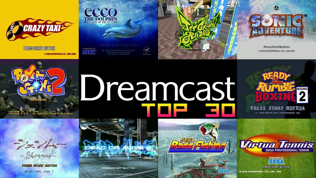 Sega Dreamcast Top 30 Games Youtube