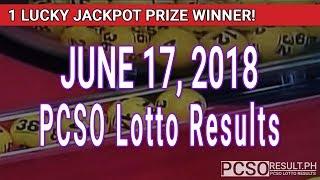 PCSO Lotto Results Today June 17, 2018 (6/58, 6/49, Swertres, STL & EZ2)