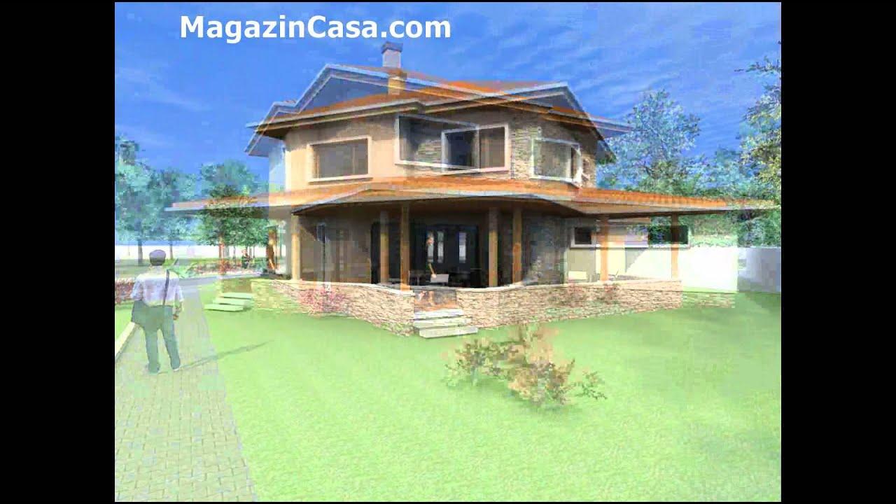 Proiect casa c26 casa cu etaj si garaj youtube for Youtube case cu mansarda
