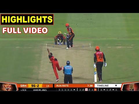 Royal Challengers Bangalore Vs Sunrisers Hyderabad Full Match Highlights | RCB VS SRH HIGHLIGHTS