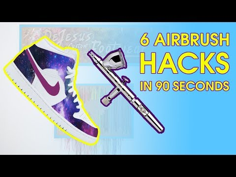 AIRBRUSH TIPS EVERY SNEAKER CUSTOMIZER SHOULD KNOW!!!