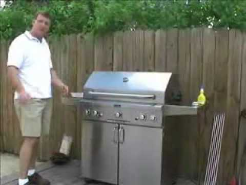 AOG Gas Grill Steak Grilling Video