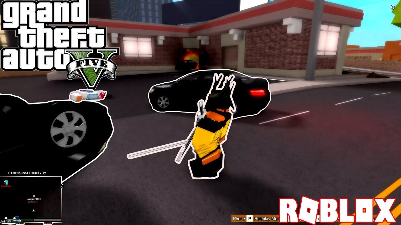 This Is Actually Gta V In Roblox Ibemaine Youtube