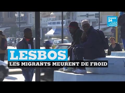 Grèce : les migrants ont froid à Lesbos