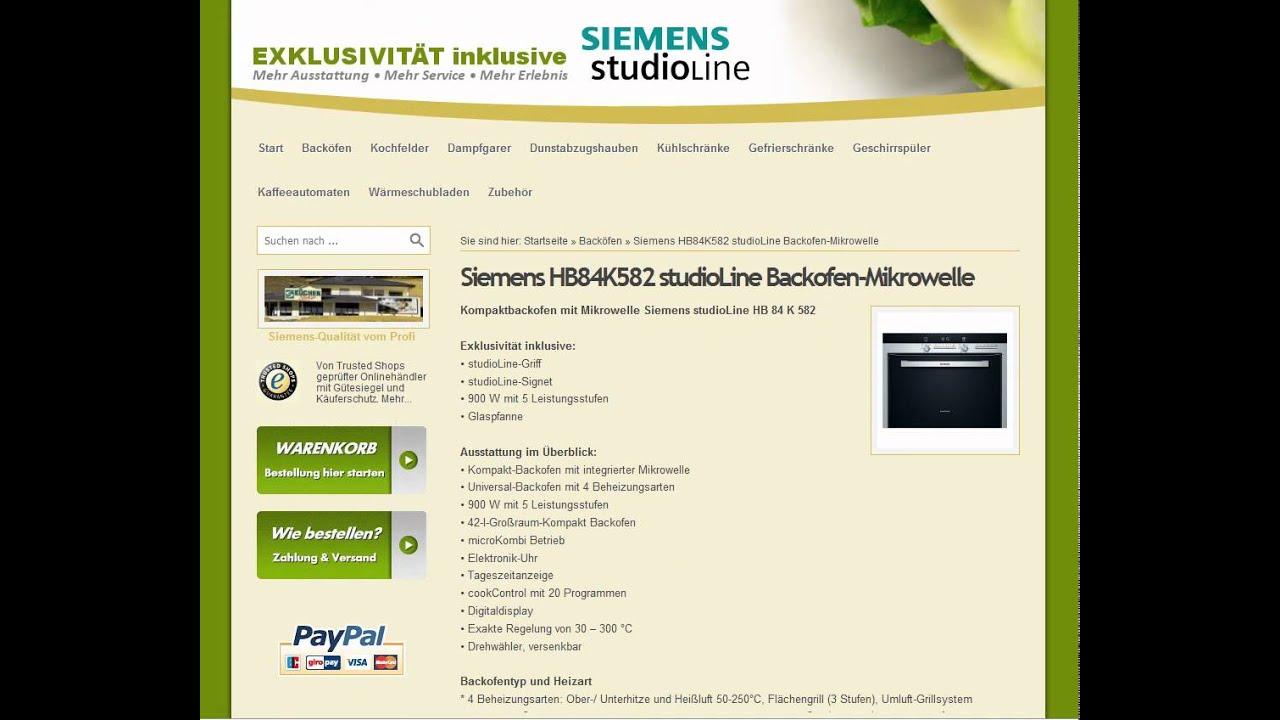 Siemens HB84K582 studioLine Backofen-Mikrowelle leicht ...