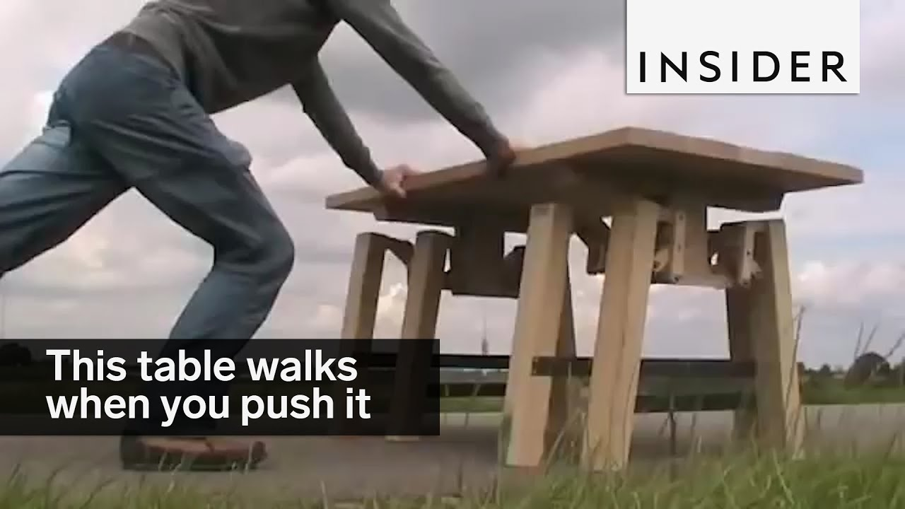 This Table Walks When You Push It YouTube - Walk in picnic table