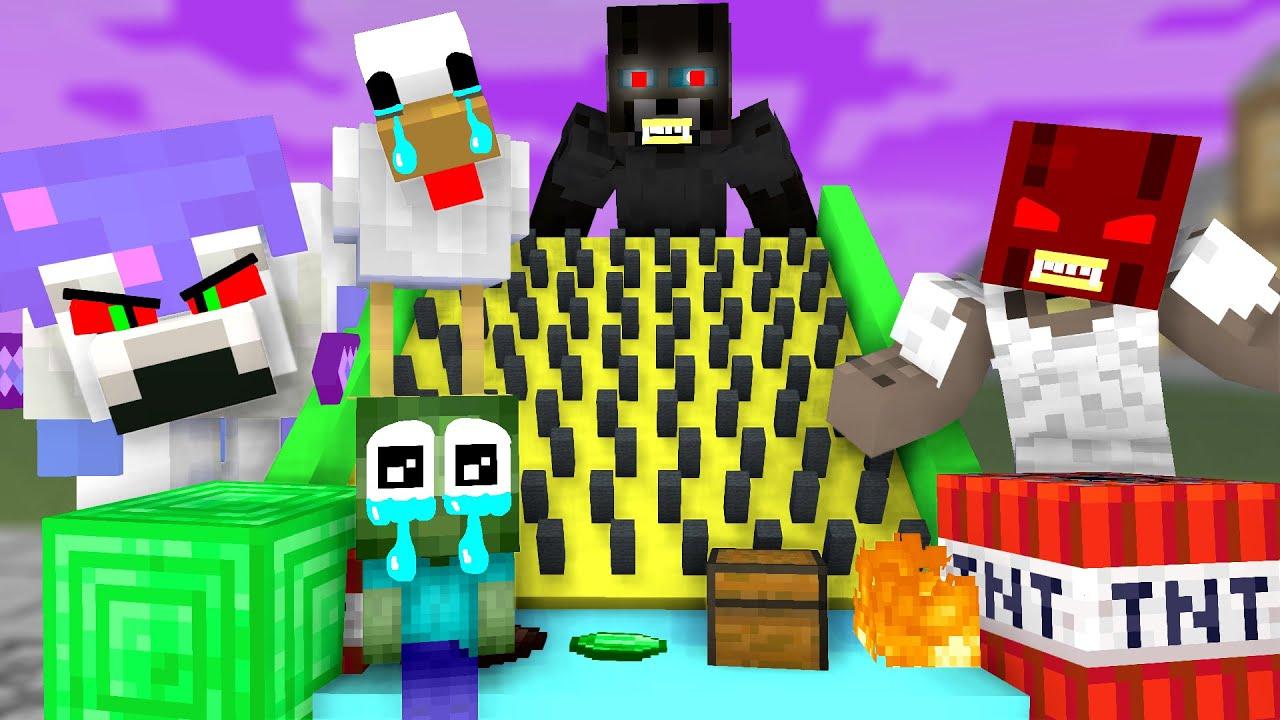 Monster School : Ziczac Game - Funny Minecraft Animation