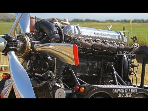 Big Old Airplane Engines Starting Up and Sound