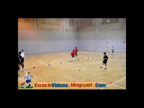 Indoor Soccer Training For Children Dribbling And Shooting Drill