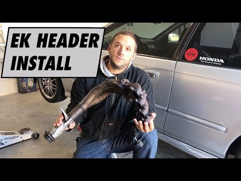 Installing a Y8 Exhaust Header on Project Civic EK + NEW WHEELS!