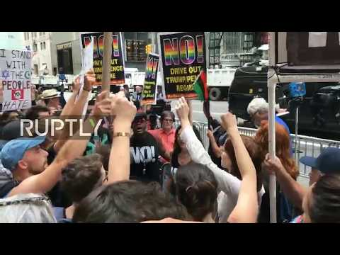 LIVE: Anti-Trump protesters rally at Trump Tower in NYC