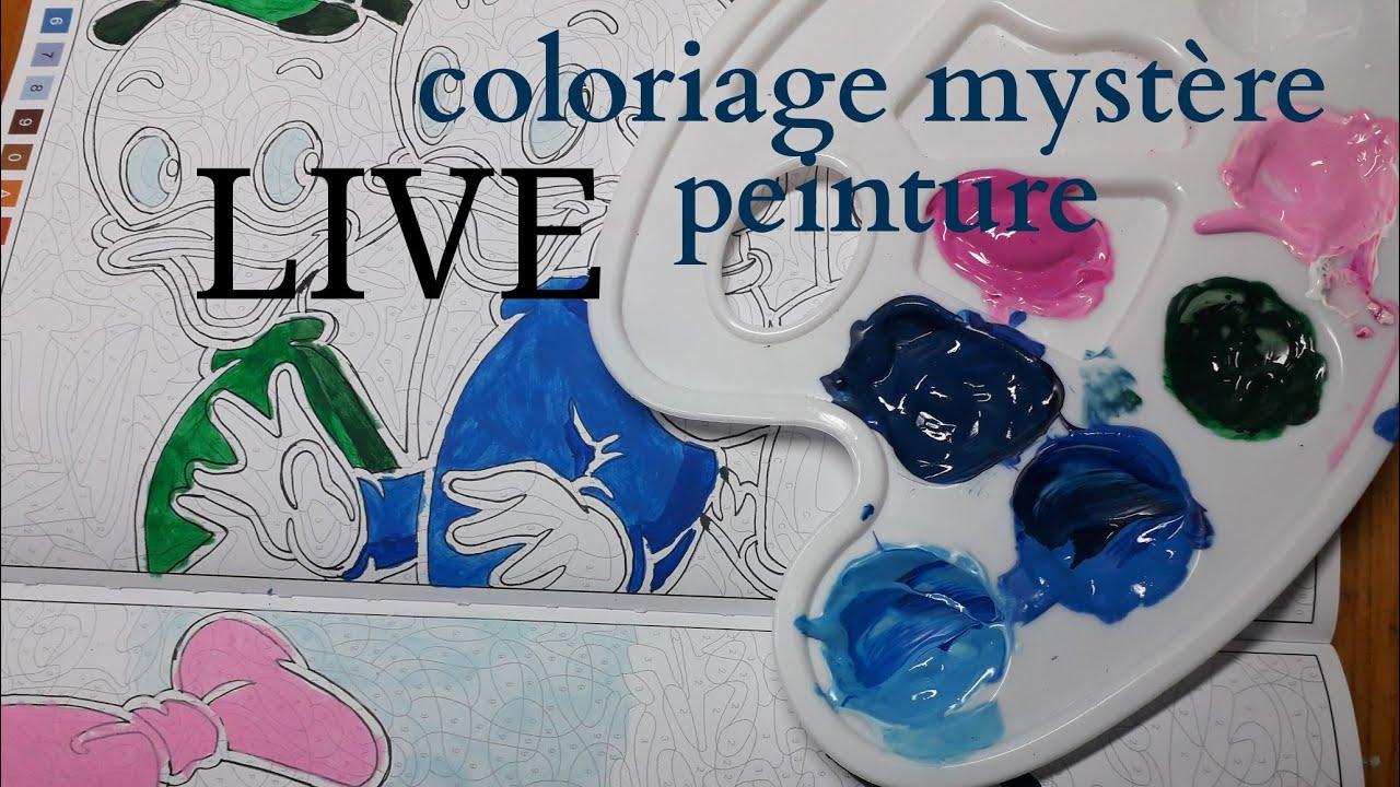 Live Coloriage Mysteres Peinture Acrylique Youtube