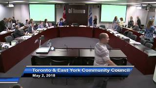Toronto and East York Community Council - May 2, 2018 - Part 2 of 2