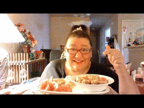 Mukbang 131..Red lentil soup & chicken and pepper jack cheese croissants