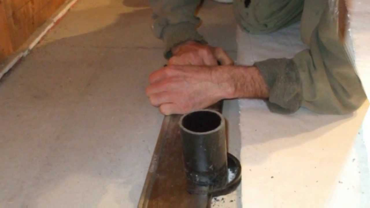Kerdi Drain On Slab Youtube