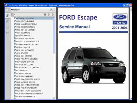 ford escape workshop service repair manual wiring youtube rh youtube com 2001 ford escape service manual 2008 Escape