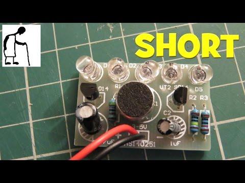LED Sound Control Melody Lamp Electronic Production DIY Kits