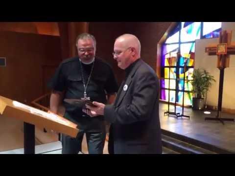 LCMS president Matt Harrison receives the 4th annual Norman Nagel award