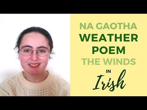 "The Winds ""Na Gaotha""   A Poem in Irish Gaelic"