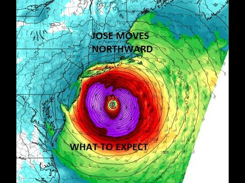 HURRICANE JOSE MOVING NORTHWARD TROPICAL STORM WATCH FROM DELAWARE TO SOUTHEASTERN MASSACHUSETTS