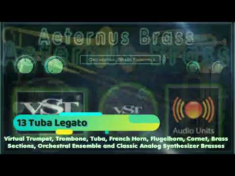 Aeternus Brass VST VST3 Audio Unit Virtual Trumpet, Trombone, Tuba