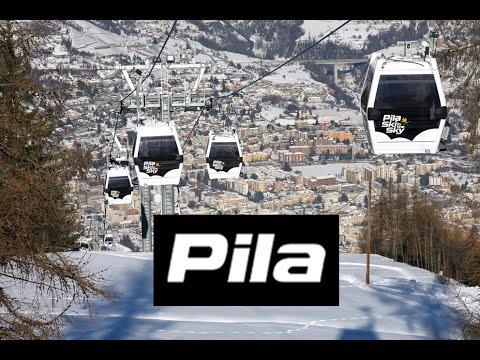 Pila un balcone sulla città di Aosta