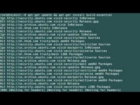 how to install gcc make perl packages