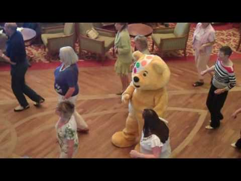 Pudsey line dancing with  music